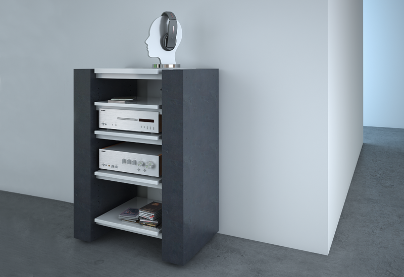 hifi rack nussbaum good tv board sheesham elegant tvboard. Black Bedroom Furniture Sets. Home Design Ideas